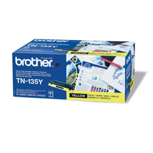 Brother TN135Y, Toner Cartridge- HC Yellow, DCP9040, 9042, HL4040, 4050, MFC9440, 9450- Genuine