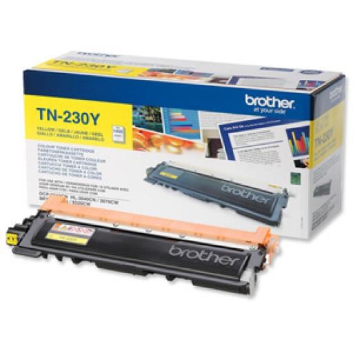 Brother TN230Y, Toner Cartridge- Yellow, DCP9010, HL3040, HL3070, MFC9120, MFC9320- Genuine
