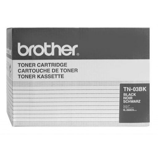 Brother TN-03BK, Toner Cartridge- Black, HL-2600C- Original