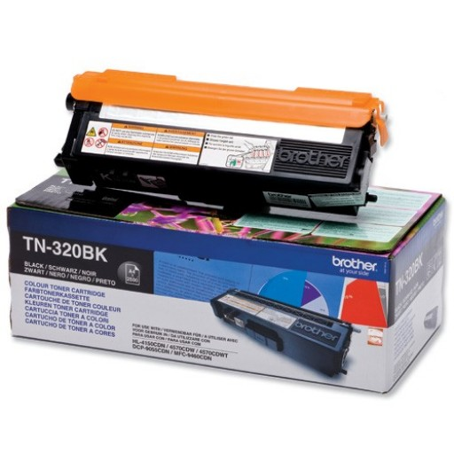 Brother TN320BK, Toner Cartridge- Black, DCP9055, 9270, HL4140, MFC9460- Genuine