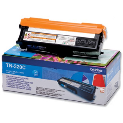 Brother TN320C, Toner Cartridge- Cyan, DCP9055, 9270, HL4140, MFC9460- Genuine
