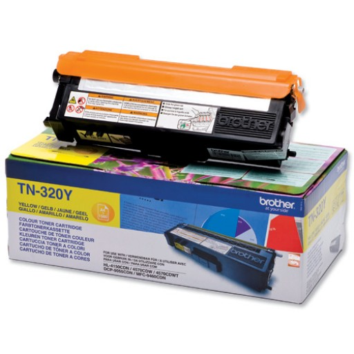 Brother TN320Y, Toner Cartridge- Yellow, DCP9055, 9270, HL4140, 4150, 4570, MFC9460, 9465, 9970- Genuine