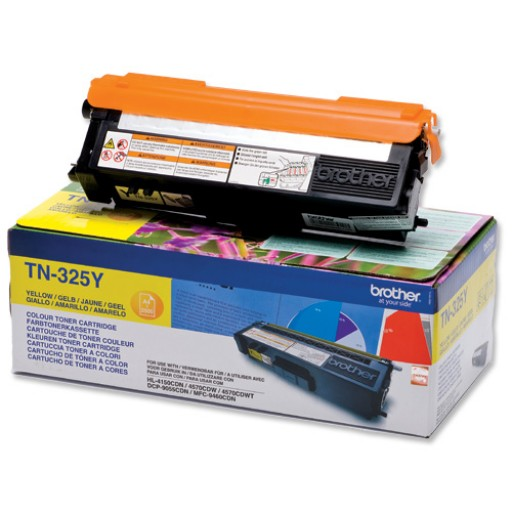 Brother TN325Y, Toner Cartridge- HC Yellow, DCP9055, 9270, HL4140, 4150, 4570- Genuine