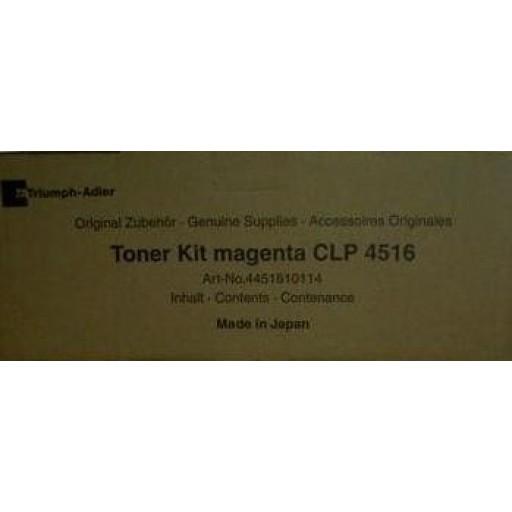 Triumph-Adler CLP4516 Toner Cartridge - Magenta Genuine (4451610114)