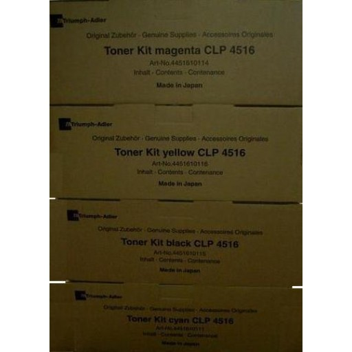 Triumph-Adler CLP4516 Toner Cartridge - Value Pack Genuine