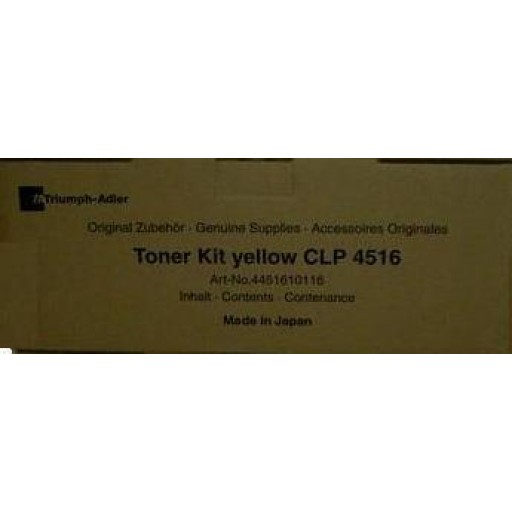 Triumph-Adler CLP4516 Toner Cartridge - Yellow Genuine (4451610116)