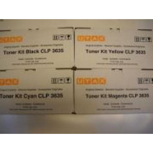 UTAX CLP 3635 Toner Cartridge - Value Pack- Black, Cyan, Magenta, Yellow - ( 4463510010, 4463510011, 4463510014, 4463510016)