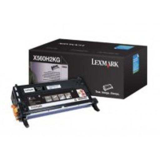 Lexmark X560H2KG, Toner Cartridge- HC Black, X560- Genuine