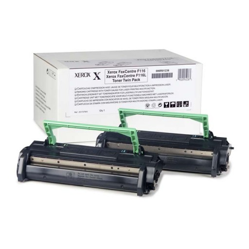 Xerox 006R01235 Toner Cartridge, FaxCentre 1012, F116 - Twin Pack Black