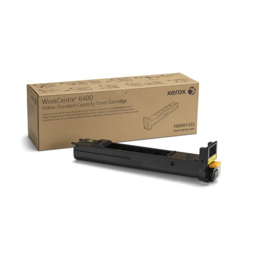 Xerox 106R01322, Yellow Toner Cartridge, WorkCentre 6400 - Genuine