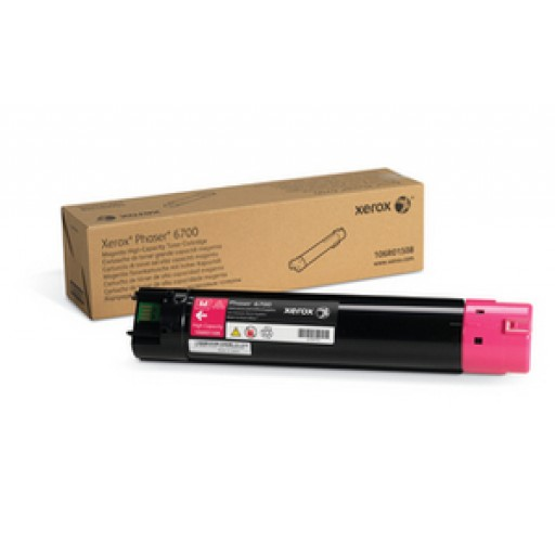 Xerox 106R01508 Toner Cartridge, Phaser 6700 - HC Magenta Genuine