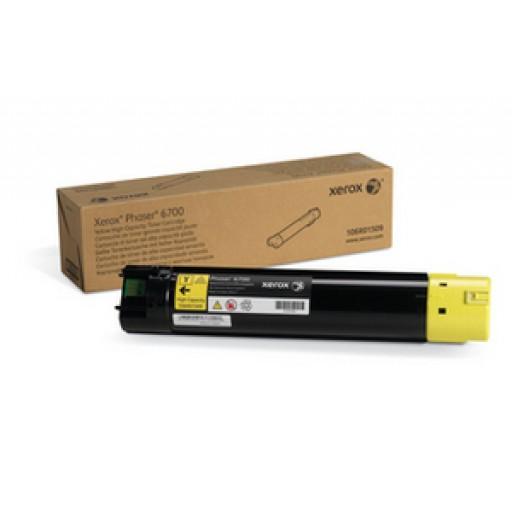 Xerox 106R01509 Toner Cartridge, Phaser 6700 - HC Yellow Genuine