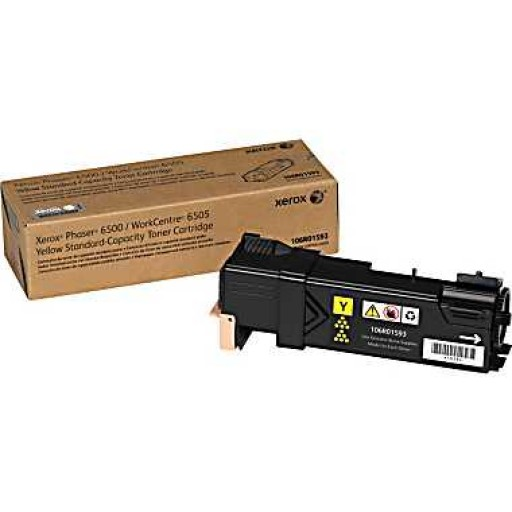 Xerox 106R01593, Toner Cartridge Yellow, Phaser 6500, WorkCentre 6505- Original