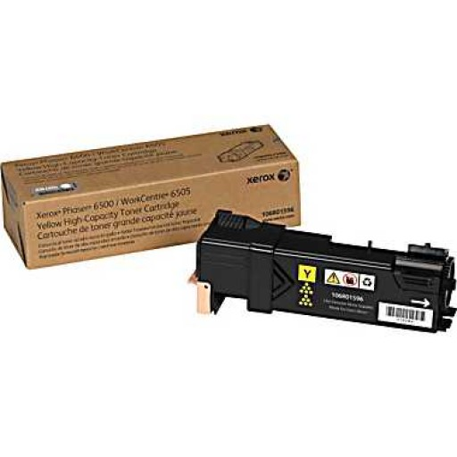 Xerox 106R01596, Toner Cartridge HC Yellow, Phaser 6500, WorkCentre 6505- Original