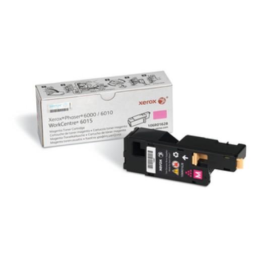 Xerox 106R01628, Toner Cartridge Magenta, Phaser 6000, 6010, WorkCentre 6015- Genuine
