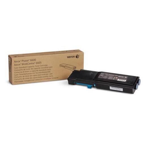 Xerox 106R02245, Toner Cartridge Cyan, Phaser 6600, WorkCentre 6605- Original