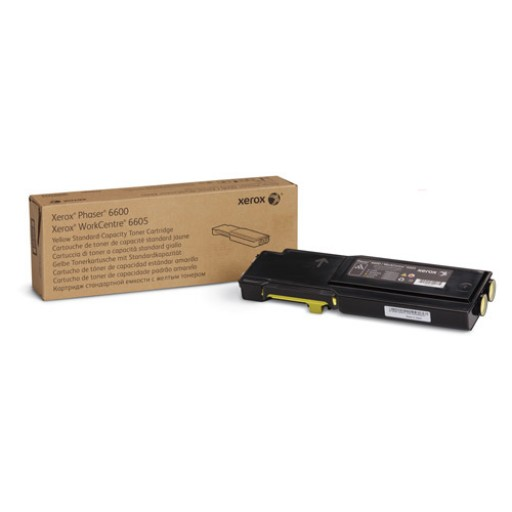 Xerox 106R02247, Toner Cartridge Yellow, Phaser 6600, WorkCentre 6605- Original