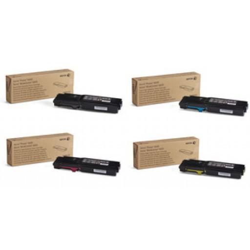 Xerox 106R02229, 106R02230, 106R02231, 106R02232 HC Toner Multipack, Phaser 6600, WorkCentre 6605- Original