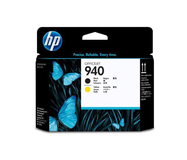 HP C4900AE No.940 Black & Yellow Printhead Genuine