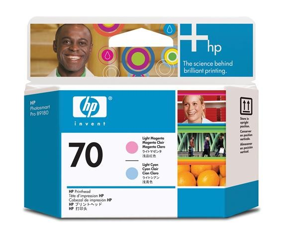 HP C9405A No.70 Light Cyan and Light Magenta Printhead Genuine