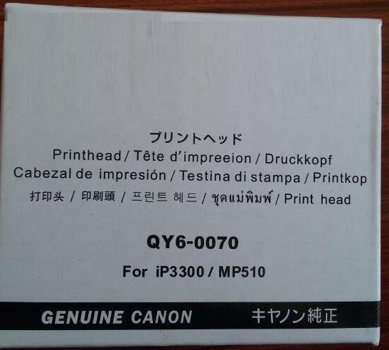 Canon QY6-0070-000, Print Head, iP3300, iP3500, MP510, Mp520- Original