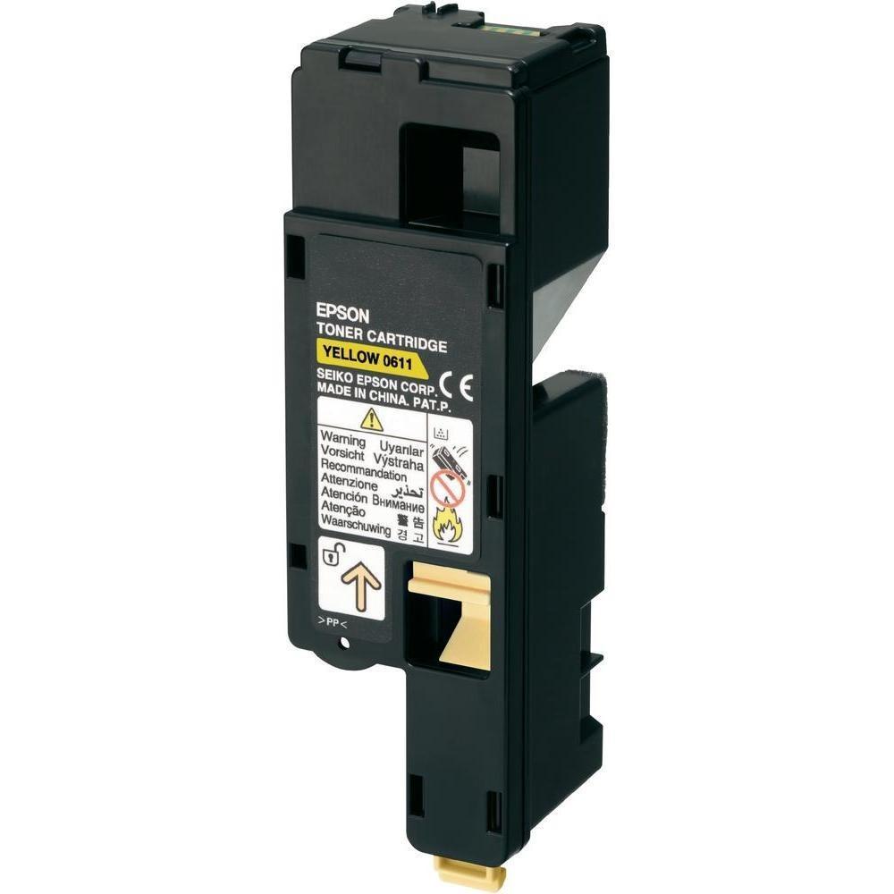 Epson C13S050611 Toner Cartridge, AcuLaser C1700, C1750, CX17 - HC Yellow Genuine