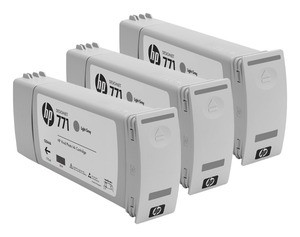 HP CR257A, 771 Ink Cartridge, Designjet Z6200 - Light Grey Multipack Genuine