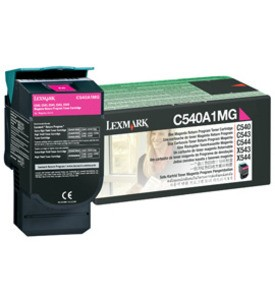 Lexmark C540A1MG, Return Program Toner Cartridge Magenta, C540, C543, C544, C546- Original