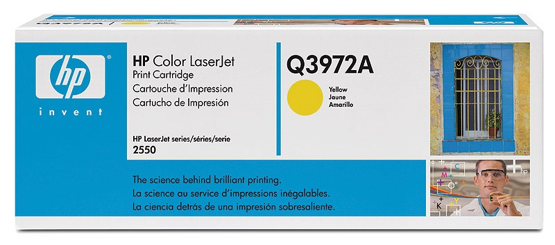 HP Q3972A, Toner Cartridge- Light user Yellow, 2500, 2800, 2820, 2840- Original