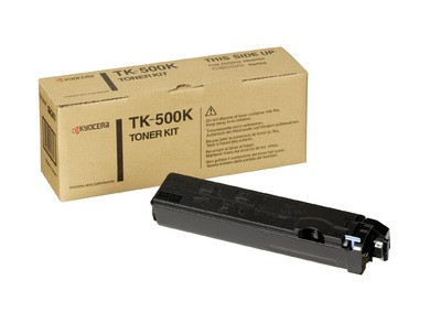Kyocera Mita TK-500K, Toner Cartridge- Black, FS-C5016N- Genuine