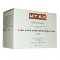 UTAX C140, C142, C144, C145, C155, C185 Toner Cartridge - Black Genuine (2x180g) (014010010)