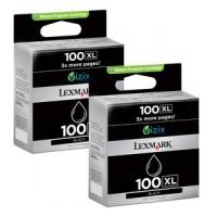 Lexmark 14N1068E No.100XL Ink Cartridge - HC Black Multipack Genuine