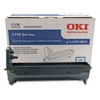 Oki 43913807, Image Drum Unit- Cyan, C710- Genuine