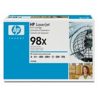 HP 4, 4 C2001A, 4M, 5, 5M, 5N, 5SE, 6 Toner Cartridge - HC Black Genuine (92298X)