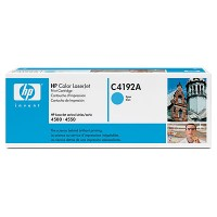 HP, C4192A, Toner Cartridge- Cyan, Laserjet 4500, 4550- Original