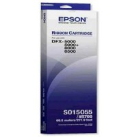 Epson S015055, Fabric Ribbon Black 8766, DFX-5000, 8000, 8500- Original