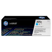 HP 305A HP M351, M375, M451, M475 Toner Cartridge - Cyan Genuine (CE411A)