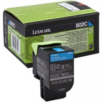 Lexmark 80C20C0, Return Program Toner Cartridge Cyan, CX310, CX410, CX510- Original