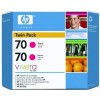 HP CB344A No.70 Ink Cartridge - Magenta Twin Pack Genuine